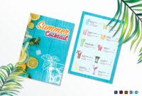 Free Printable Drink Menu Template Unique Summer Cocktail intended for Cocktail Menu Template Word Free
