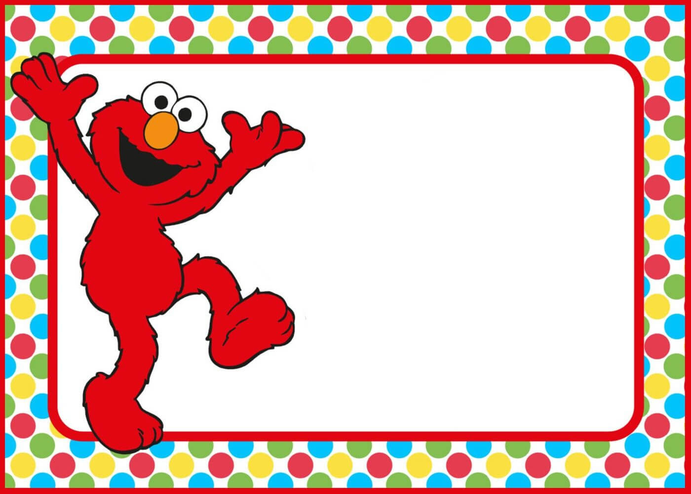Free Printable Elmo Party Invitation Template In 2020 | Elmo In Elmo Birthday Card Template