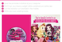 Free Printable For An Ever After High Birthday Party inside Monster High Birthday Card Template
