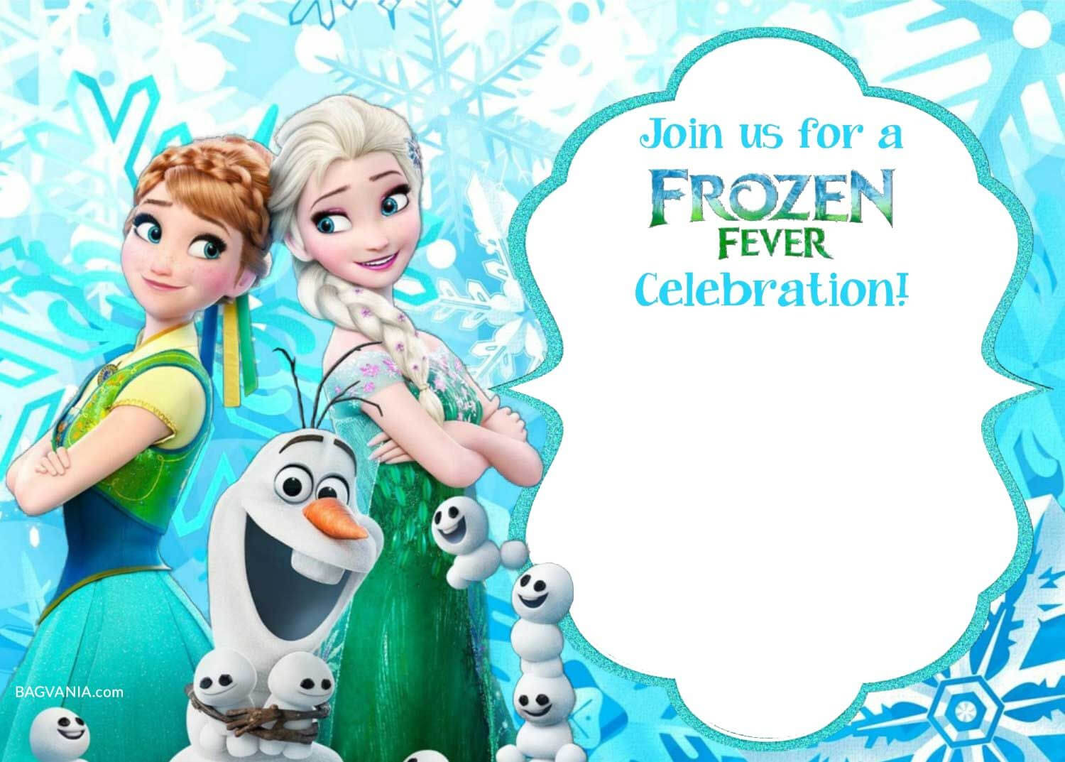 Free Printable Frozen Invitation Templates | Bagvania Free Pertaining To Frozen Birthday Card Template