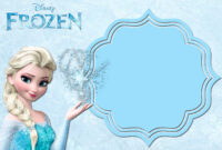 Free Printable Frozen Invitation Templates – Bagvania regarding Frozen Birthday Card Template
