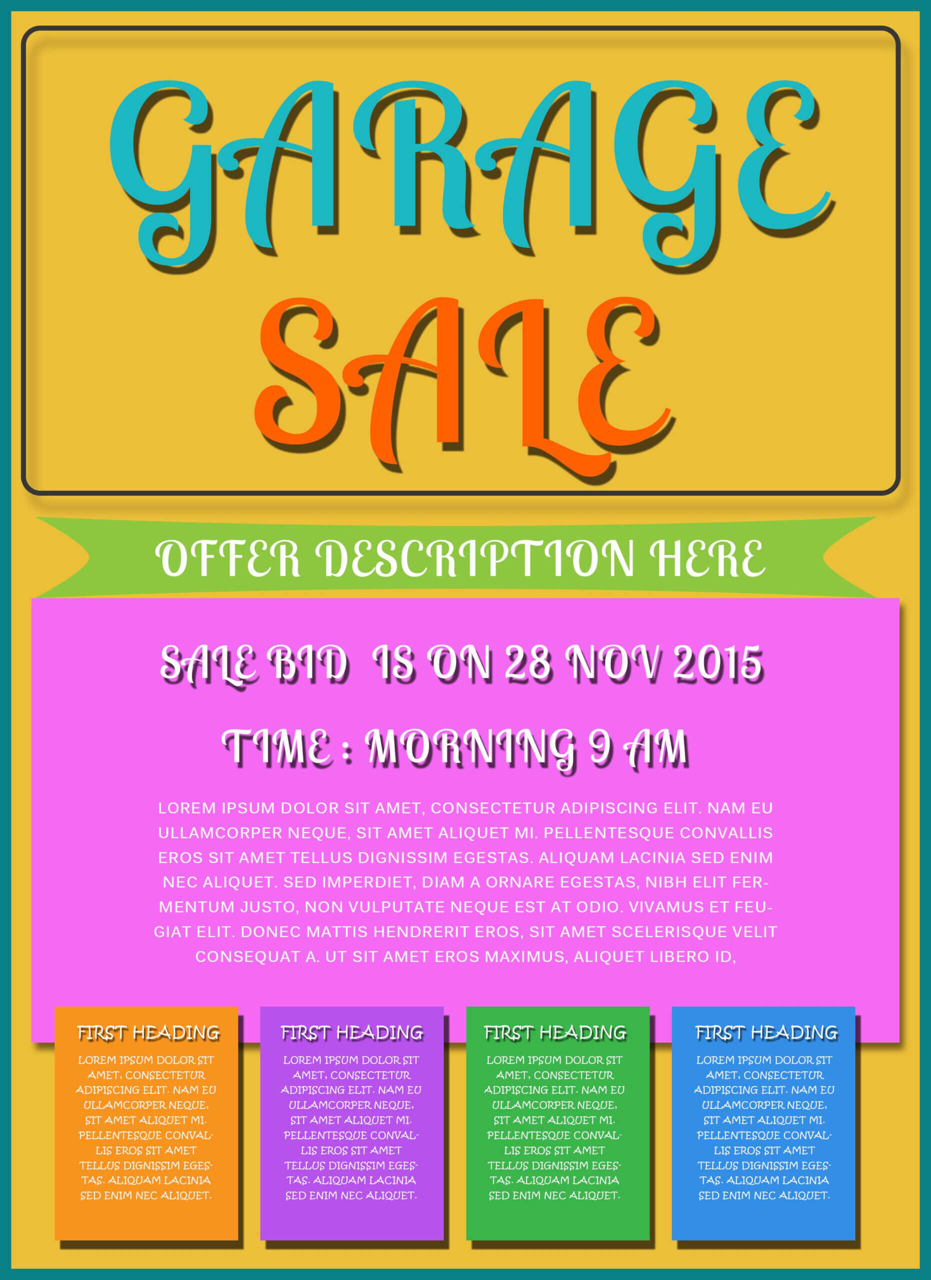 Free Printable Garage Sale Flyers Templates - Attract More With Garage Sale Flyer Template Word