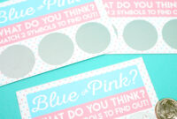 Free Printable Gender Reveal Scratch Off Cards – Happiness With Scratch Off Card Templates