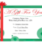 Free Printable Gift Certificate Template | Free Christmas inside Homemade Gift Certificate Template