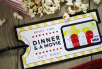 Free Printable} Give Date Night For A Wedding Gift | Date within Movie Gift Certificate Template