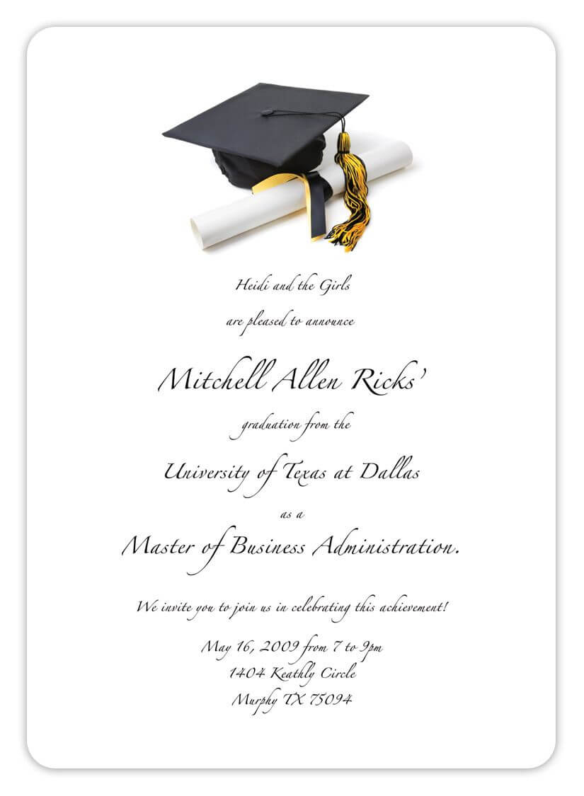 Free Printable Graduation Invitation Templates 2013 2017 In Graduation Party Invitation Templates Free Word