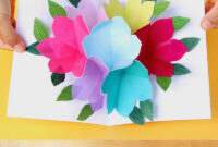 Free Printable Happy Birthday Card With Pop Up Bouquet – A with Free Printable Pop Up Card Templates