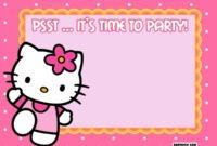 Free Printable Hello Kitty Birthday Invitations – Bagvania intended for Hello Kitty Birthday Card Template Free
