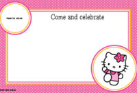 Free Printable Hello Kitty Birthday Party Invitations inside Hello Kitty Birthday Banner Template Free