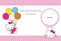 Free Printable Hello Kitty Birthday Party Invitations pertaining to Hello Kitty Birthday Banner Template Free