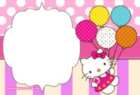 Free Printable Hello Kitty Pink Polka Dot Invitation intended for Hello Kitty Birthday Banner Template Free