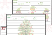 Free Printable Holiday Recipe Cards • Rose Clearfield pertaining to Cookie Exchange Recipe Card Template