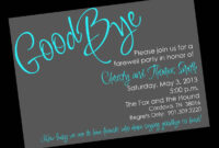 Free Printable Invitation Templates Going Away Party pertaining to Farewell Invitation Card Template