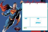 Free Printable Justice League Invitation Template | Birthday pertaining to Superman Birthday Card Template
