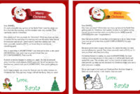 Free Printable Letter From Santa Word Template – Christmas regarding Letter From Santa Template Word
