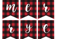 Free Printable Merry Christmas Banner – Paper Trail Design inside Merry Christmas Banner Template
