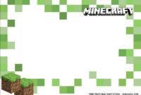 Free Printable) – Minecraft Birthday Party Kits Template regarding Minecraft Birthday Card Template