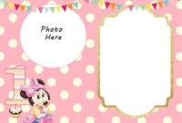 Free Printable Minnie Mouse 1St Invitation Templates for Minnie Mouse Card Templates