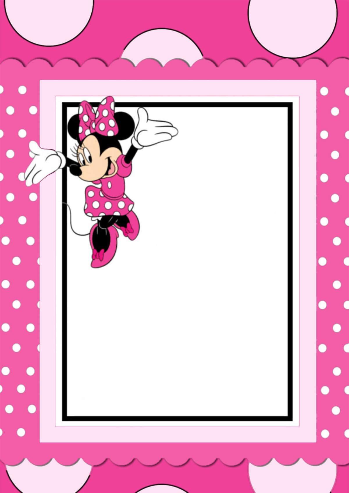 Free Printable Minnie Mouse Invitation Card | Free Regarding Minnie Mouse Card Templates