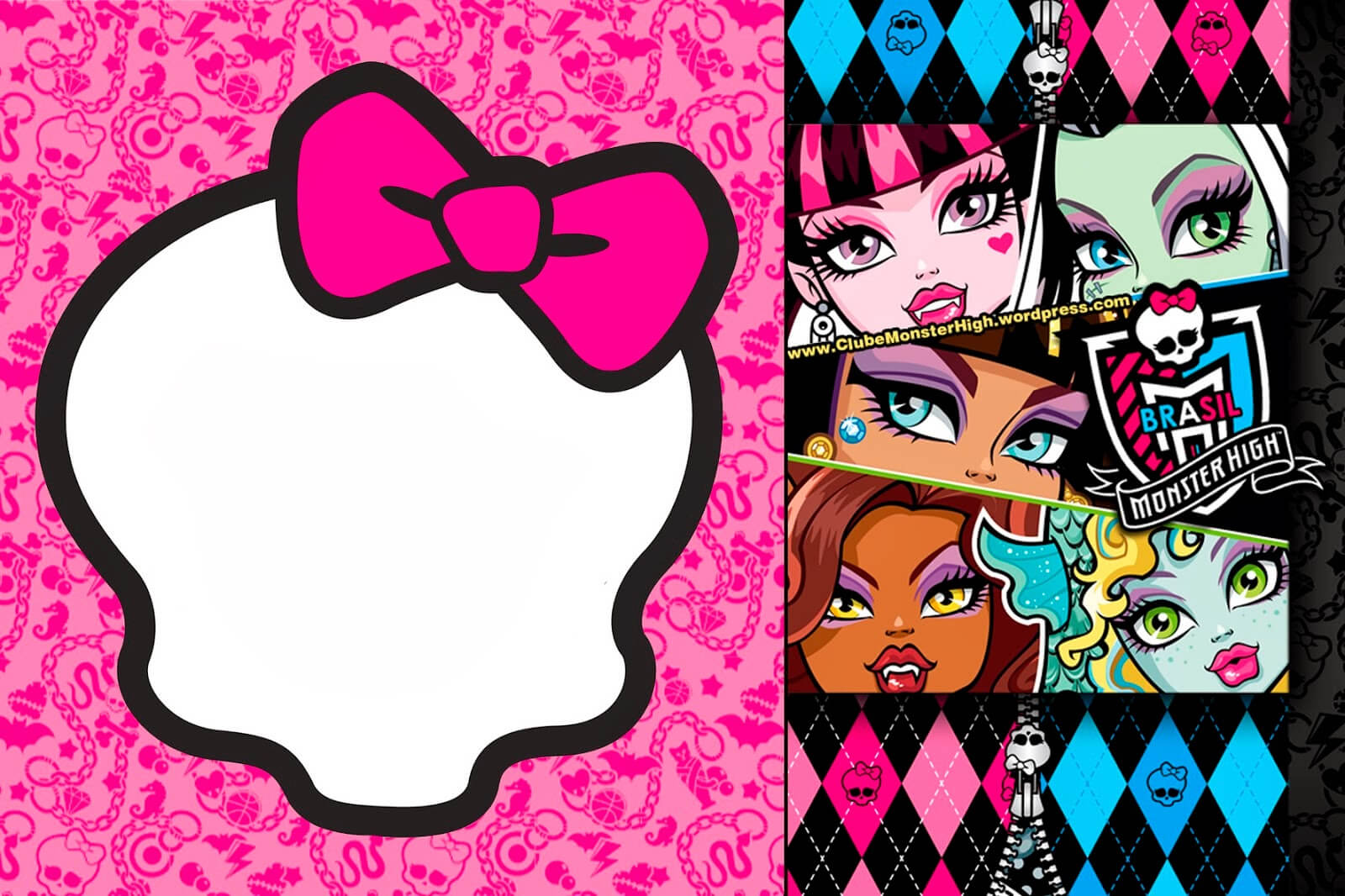 Free Printable Monster High Birthday Invitations Layout For Monster High Birthday Card Template