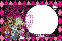 Free-Printable-Monster-High-Halloween-Birthday-Invitation for Monster High Birthday Card Template