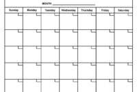 Free Printable Monthly Calendar With Large Boxes Skymaps throughout Month At A Glance Blank Calendar Template