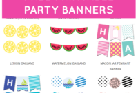 Free Printable Party Banners From @chicfetti | Free regarding Free Printable Party Banner Templates