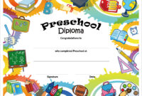 Free Printable Preschool Diplomas | Kindergarten Graduation for Free Printable Graduation Certificate Templates