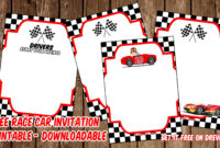 Free Printable Race Car Invitation Templates – Bagvania regarding Blank Race Car Templates