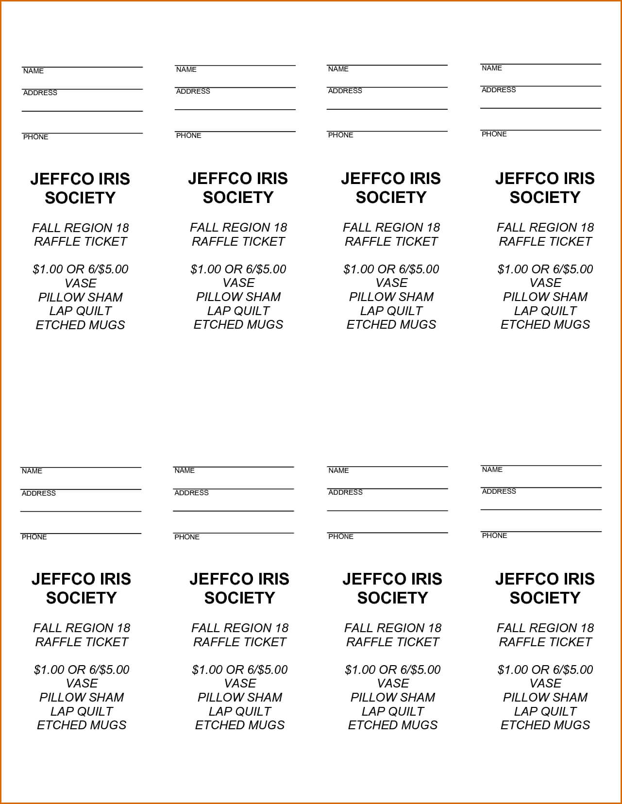 Free Printable Raffle Tickets - Free Printable Raffle Ticket Inside Free Raffle Ticket Template For Word