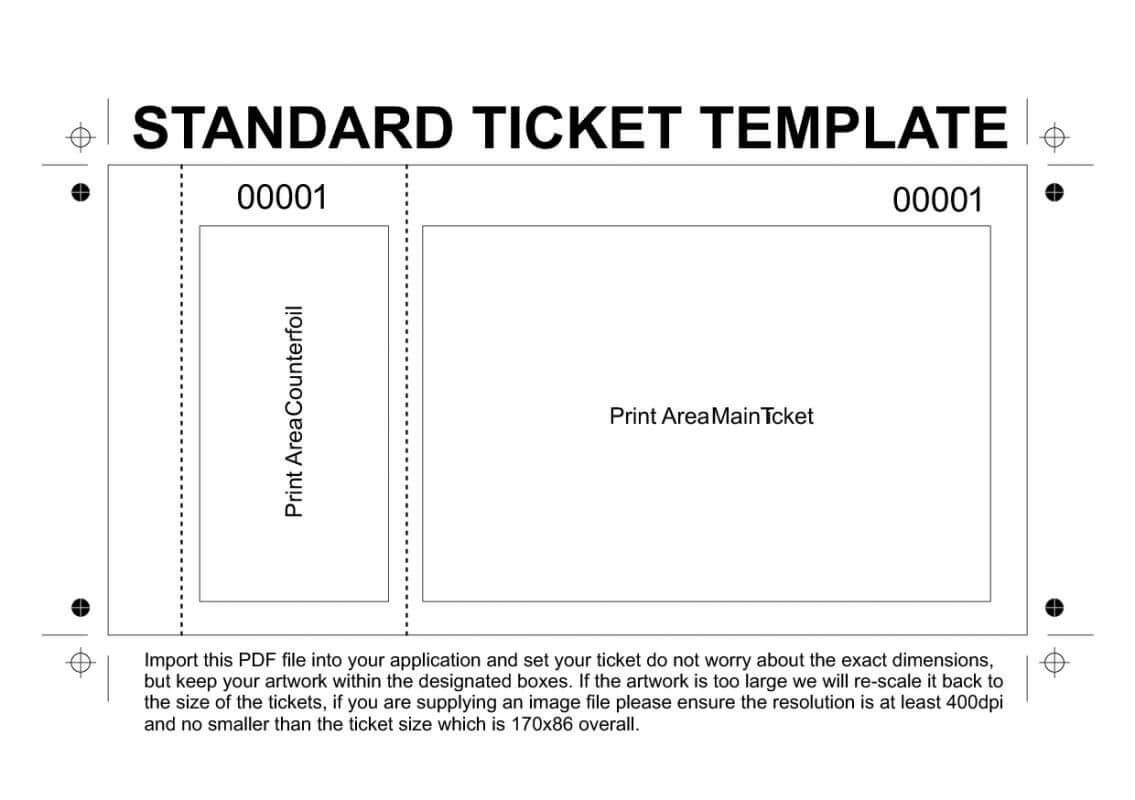 Free Printable Raffle Tickets Template | Ticket Template Pertaining To Blank Parking Ticket Template