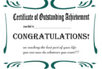 Free Printable Retirement Certificate | Printable for Congratulations Certificate Word Template