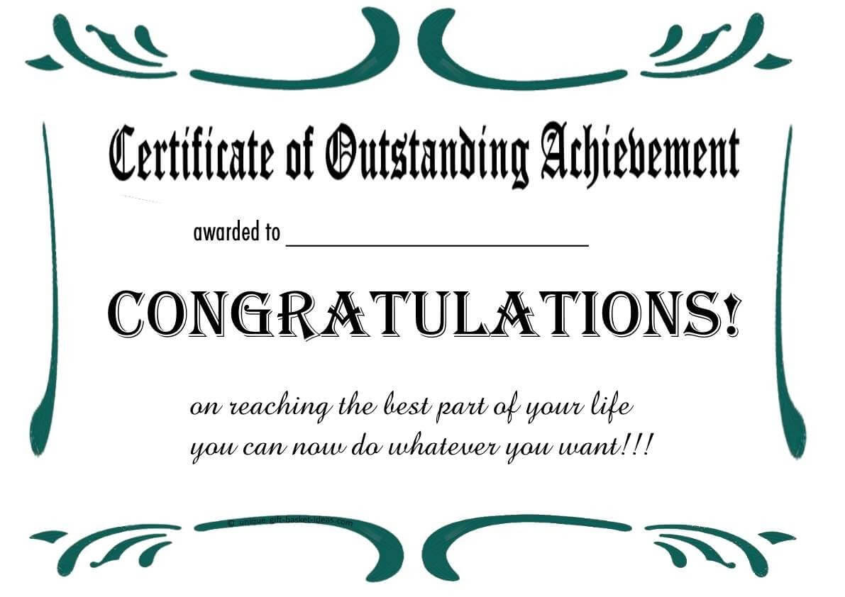 Free Printable Retirement Certificate | Printable Regarding Farewell Certificate Template