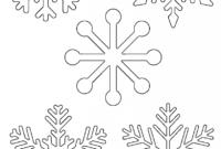 Free Printable Snowflake Templates – Large & Small Stencil pertaining to Blank Snowflake Template