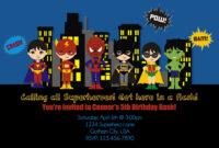 Free Printable Superhero Birthday Invitations – Bagvania intended for Superhero Birthday Card Template