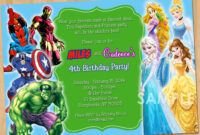 Free Printable Superhero Birthday Invitations – Bagvania throughout Superhero Birthday Card Template