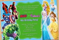 Free Printable Superhero Birthday Invitations – Bagvania throughout Superhero Birthday Card Template