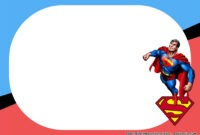 Free Printable) – Superman Birthday Party Kits Template with Blank Superman Logo Template