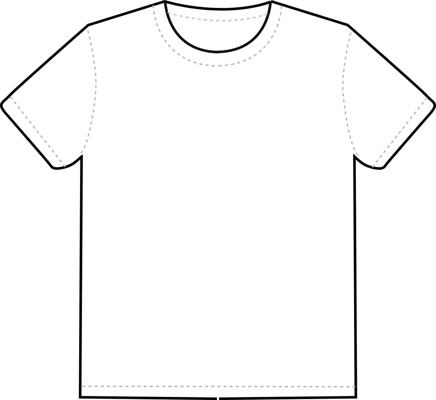 Free Printable T Shirt Template, Download Free Clip Art Inside Printable Blank Tshirt Template