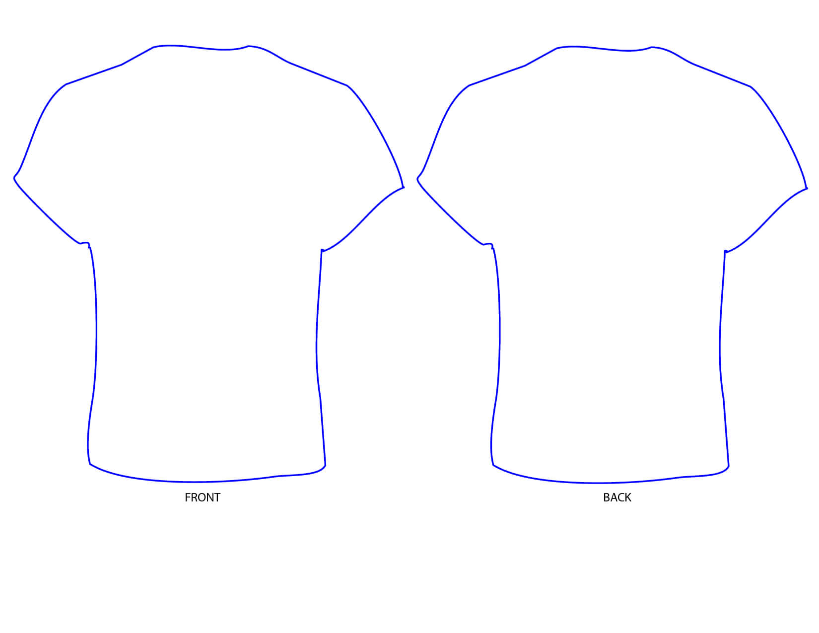 Free Printable T Shirt Template, Download Free Clip Art Within Printable Blank Tshirt Template