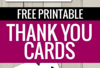 Free Printable Thank You Cards | Thank You Card Template for Free Templates For Cards Print