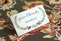 Free Printable – Thanksgiving Place Cards | Thanksgiving for Amscan Templates Place Cards