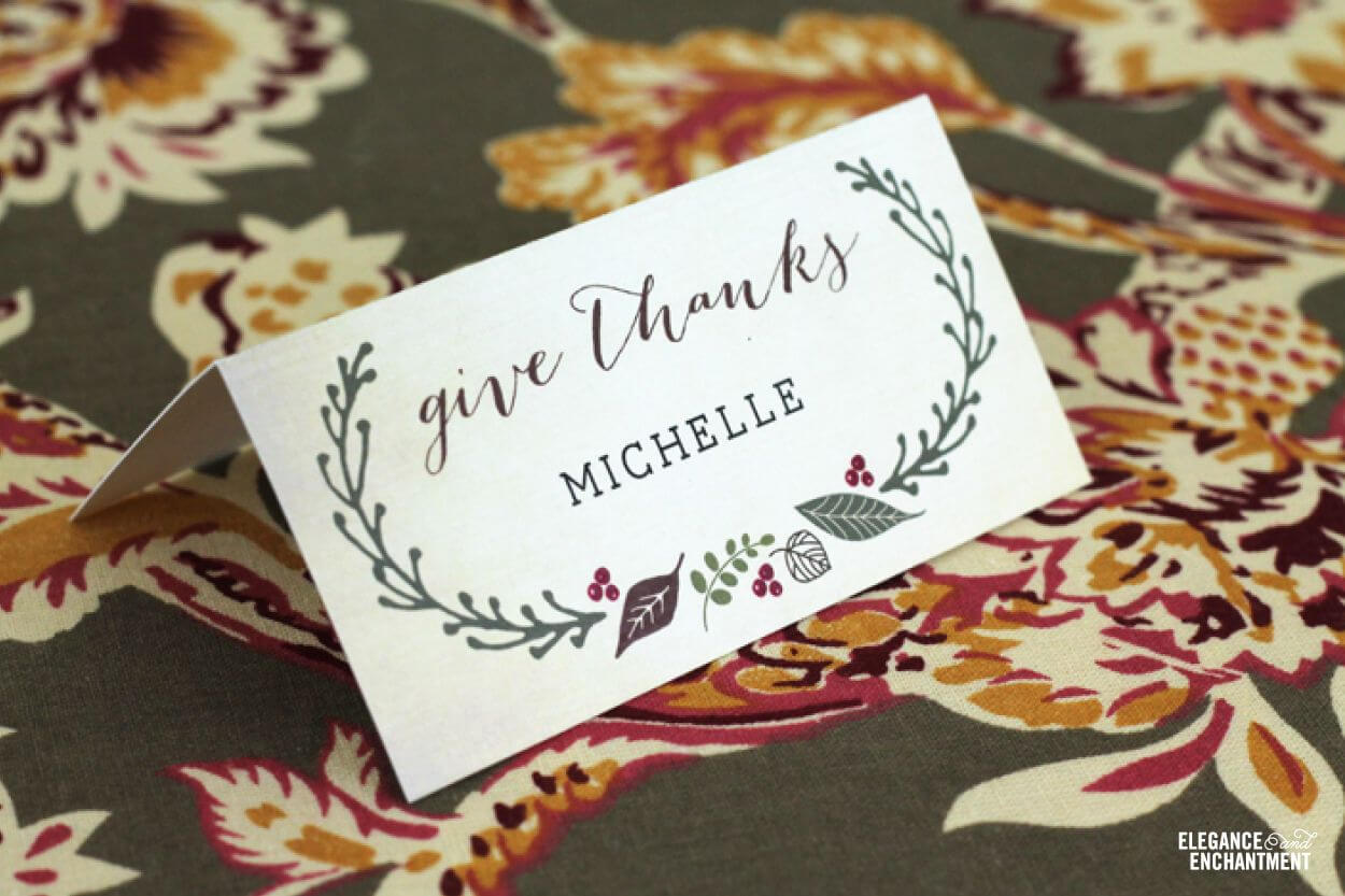 Free Printable – Thanksgiving Place Cards | Thanksgiving Within Thanksgiving Place Card Templates