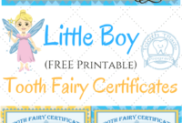 Free Printable Tooth Fairy Certificates | Tooth Fairy with Tooth Fairy Certificate Template Free