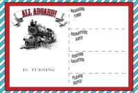 Free Printable Vintage Train Ticket Invitation Template with regard to Blank Train Ticket Template