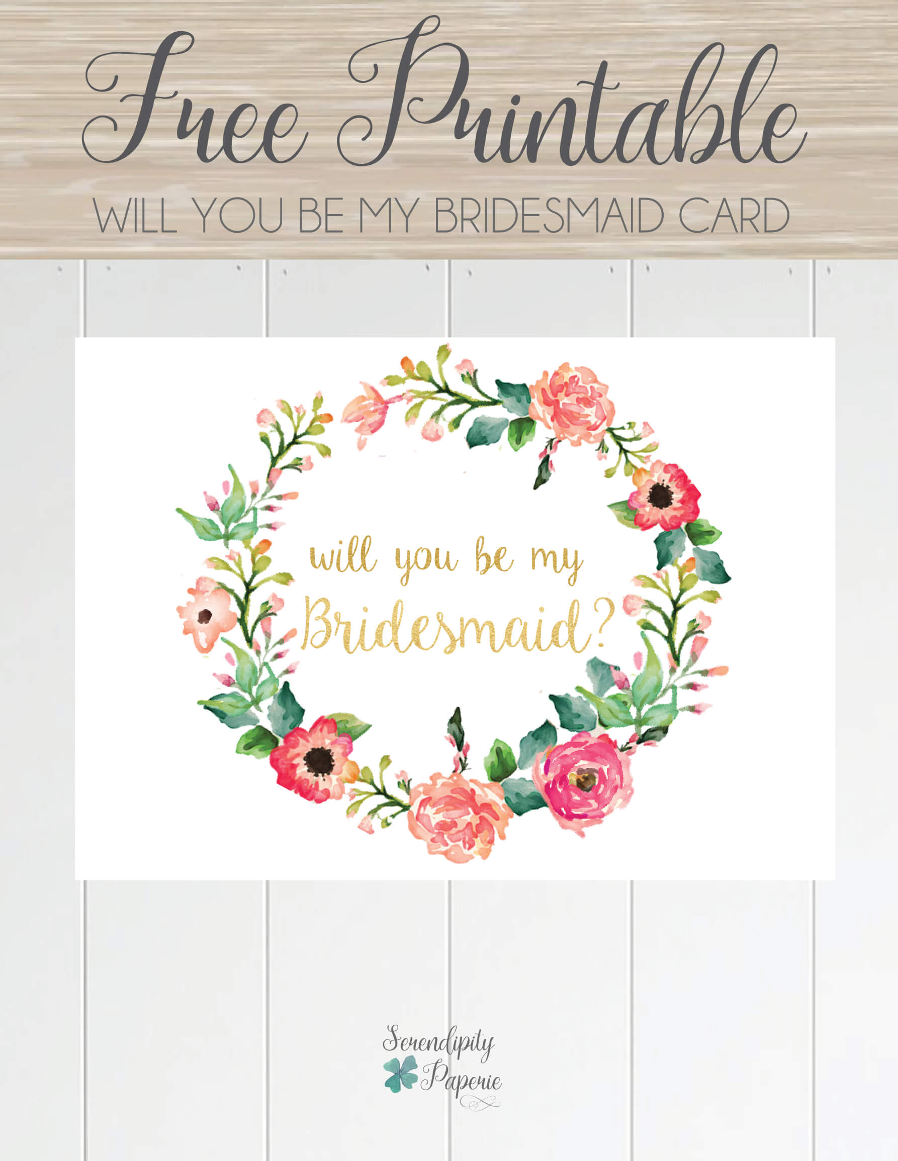 Free Printable Will You Be My Bridesmaid Card. Only At In Will You Be My Bridesmaid Card Template