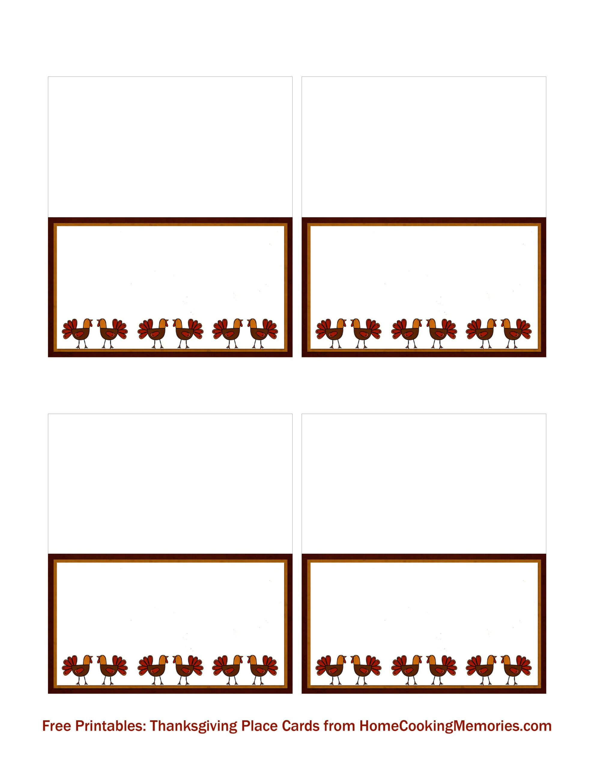 Free Printables: Thanksgiving Place Cards | Thanksgiving Within Thanksgiving Place Cards Template