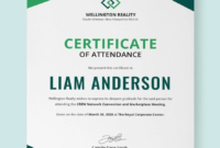 Free Program Attendance Certificate | Certificate Templates Intended For Indesign Certificate Template