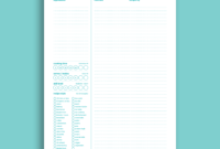 Free Recipe Card Templates in Recipe Card Design Template