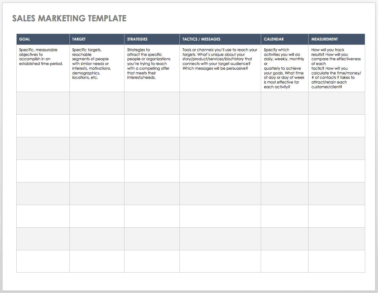 Free Sales Pipeline Templates | Smartsheet For Sales Activity Report Template Excel